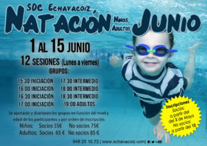 Cursos natación Junio